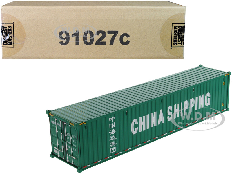 40' Dry Goods Sea Container China Shipping Green Transport Series 1/50 Model Diecast Masters 91027 C