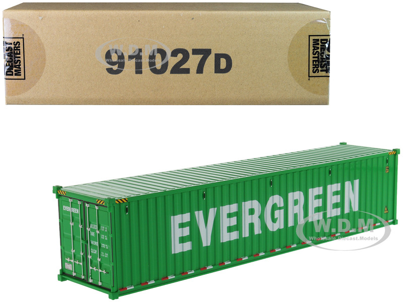 40' Dry Goods Sea Container EverGreen Green Transport Series 1/50 Model Diecast Masters 91027 D