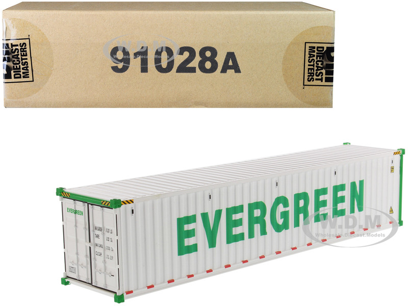 40' Refrigerated Sea Container EverGreen White Transport Series 1/50 Model Diecast Masters 91028 A