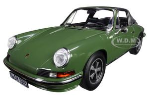 1973 Porsche 911 S Targa Green Black Top 1/18 Diecast Model Car Norev 187632