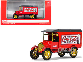 1926 Ford Model TT Delivery Van Coca Cola Red Gold Wheels 1/43 Diecast Model Car Motorcity Classics 443026