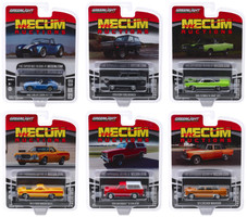 Mecum Auctions Collector Cars Series 4 Set 6 pieces 1/64 Diecast Model Cars Greenlight 37190