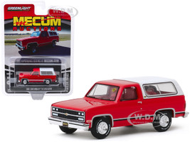 1991 Chevrolet K-5 Blazer Red White Red Interior Houston 2019 Mecum Auctions Collector Cars Series 4 1/64 Diecast Model Car Greenlight 37190 E