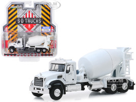 2019 Mack Granite Cement Mixer White SD Trucks Series 8 1/64 Diecast Model Greenlight 45080 B