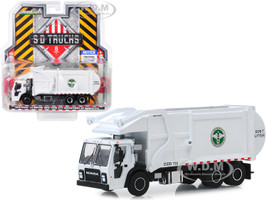 2019 Mack LR Refuse Recycle Garbage Truck White DSNY New York City Department Of Sanitation SD Trucks Series 8 1/64 Diecast Model Greenlight 45080 C
