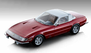 1969 Ferrari 365 GTB/4 Daytona Coupe Speciale Gloss Ferrari Red White Top Mythos Series Limited Edition 130 pieces Worldwide 1/18 Model Car Tecnomodel TM18-108 B