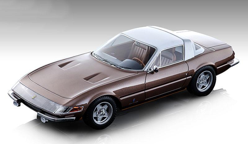 1969 Ferrari 365 GTB/4 Daytona Coupe Speciale Metallic Bronze White Top Mythos Series Limited Edition 60 pieces Worldwide 1/18 Model Car Tecnomodel TM18-108 D