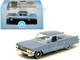 1961 Cadillac Sedan DeVille Nautilus Blue Metallic Blue Interior 1/87 HO Scale Diecast Model Car Oxford Diecast 87CSD61003