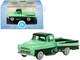 1957 Dodge D100 Sweptside Pickup Truck Forest Green Misty Green 1/87 HO Scale Diecast Model Car Oxford Diecast 87DP57003