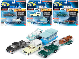 Hulls & Haulers Series 2 Set B of 3 Cars Johnny Lightning 50th Anniversary 1/64 Diecast Model Cars Johnny Lightning JLBT012 B