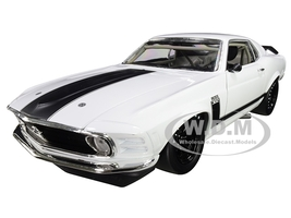 1970 Ford Boss 302 Mustang Street Version White Black Stripes Limited Edition 354 pieces Worldwide 1/18 Diecast Model Car ACME A1801835 W