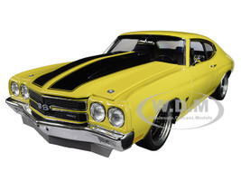 1970 Chevrolet Chevelle Street Fighter Daytona Yellow Black Stripes Limited Edition 522 pieces Worldwide 1/18 Diecast Model Car ACME A1805515