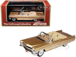 1964 Cadillac DeVille Convertible Firemist Metallic Saddle Tan Limited Edition 220 pieces Worldwide 1/43 Model Car Goldvarg Collection GC-035 A