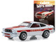 1978 Ford Mustang II Cobra II White Red Orange Stripes Cobra Bites Man Both Live Vintage Ad Cars Series 1 1/64 Diecast Model Car Greenlight 39020 F