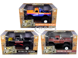 Kings of Crunch Series 2 Set of 3 Monster Trucks 1/43 Diecast Model Cars Greenlight 88021 88022 88023