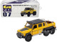 Mercedes Benz G63 AMG 6x6 Pickup Truck Spotlight Yellow Black Top 1/64 Diecast Model Car Era Car MB196X6RN07