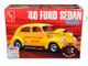 Skill 2 Model Kit 1940 Ford Sedan Gasser Original Art Series 3 in 1 Kit 1/25 Scale Model AMT AMT1088