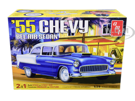 Skill 2 Model Kit 1955 Chevrolet Bel Air Sedan 2 in 1 Kit 1/25 Scale Model AMT AMT1119 M