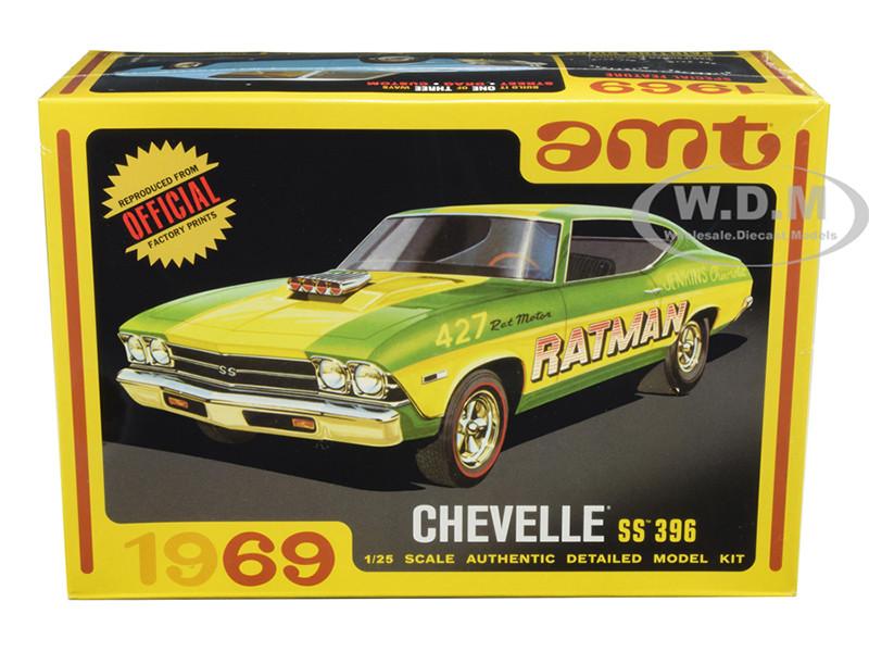 Skill 2 Model Kit 1969 Chevrolet Chevelle SS 396 3 in 1 Kit 1/25 Scale Model AMT AMT1138