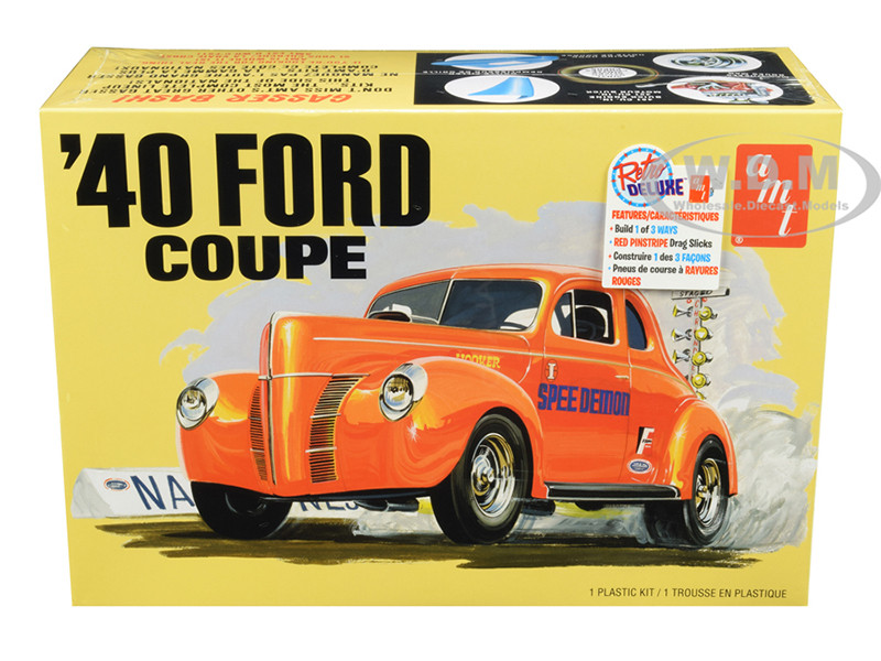 Skill 2 Model Kit 1940 Ford Coupe 3 in 1 Kit 1/25 Scale Model AMT AMT1141 M