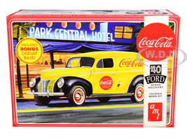 Skill 3 Model Kit 1940 Ford Sedan Delivery Van Coca Cola Display Base 1/25 Scale Model AMT AMT1161