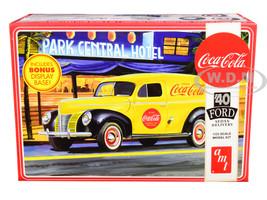 Skill 3 Model Kit 1940 Ford Sedan Delivery Van Coca Cola Display Base 1/25 Scale Model AMT AMT1161