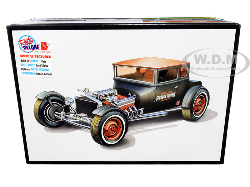 Skill 2 Model Kit 1925 Ford Model T Chopped Set of 2 pieces 1/25 Scale Model AMT AMT1167