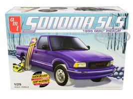 Skill 2 Model Kit 1995 GMC Sonoma SLS Pickup Truck Snowboard Boots 1/25 Scale Model AMT AMT1168 M