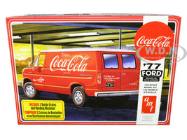 "Skill 3 Model Kit 1977 Ford Delivery Van with 2 Bottles Crates and Vending Machine ""Coca-Cola"" 1/25 Scale Model by AMT AMT1173M"