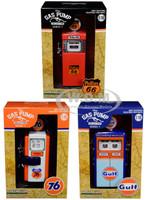 Vintage Gas Pump Series 7 Set 3 Pumps 1/18 Diecast Models Greenlight 14070