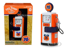 1948 Wayne 100-A Gas Pump Union 76 Gasoline Vintage Gas Pumps Series 7 1/18 Diecast Model Greenlight 14070 B
