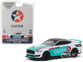 2019 Ford Mustang Shelby GT350R Caltex Hobby Exclusive 1/64 Diecast Model Car Greenlight 30133