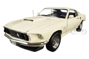 1969 Ford Mustang Fastback Boss 429 Wimbledon White Class of 1969 50th Anniversary of the Boss Engines 1969 2019 1/18 Diecast Model Car Autoworld AMM1196