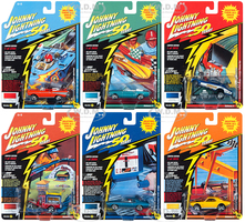 Classic Gold 2019 Release 2 Set A of 6 Cars Johnny Lightning 50th Anniversary 1/64 Diecast Model Cars Johnny Lightning JLCG020 A