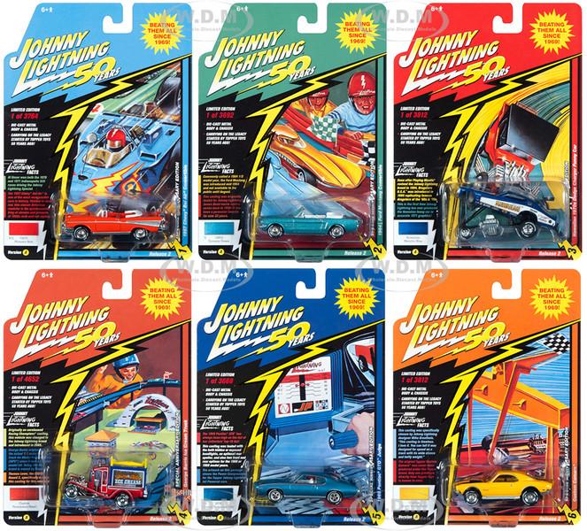 Classic Gold 2019 Release 2 Set A of 6 Cars Johnny Lightning 50th Anniversary 1/64 Diecast Model Cars Johnny Lightning JLCG020 A
