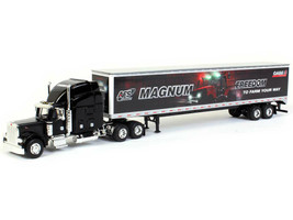 Peterbilt 379 Case IH AFS Magnum Trailer Black 1/64 Diecast Model SpecCast 33720