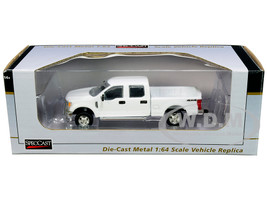 2017 Ford F-350 4x4 Crew Cab Pickup Truck White 1/64 Diecast Model Car SpecCast 52603