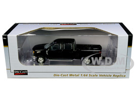 2017 Ford F-350 4x4 Crew Cab Pickup Truck Black 1/64 Diecast Model Car SpecCast 52604