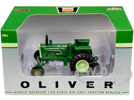 White Oliver 1955 Wide Front Tractor Green 1/64 Diecast Model SpecCast SCT680