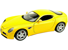 Alfa Romeo 8C Competizione Yellow 1/18 Diecast Model Car Bburago 12077
