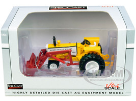 Minneapolis Moline G850 Narrow Front Tractor with Loader Yellow Red 1/64 Diecast Model SpecCast SCT732