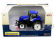 New Holland T7.315 Tractor with Rear Duals Blue 1/64 Diecast Model SpecCast ZJD1832