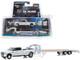 2018 Dodge Ram 3500 Laramie Pickup Truck Gooseneck Trailer White Hitch & Tow Series Limited Edition 2438 pieces Worldwide 1/64 Diecast Model Car Greenlight 51308
