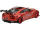 Nissan GT-R R35 Type 1 LB Works LibertyWalk Rear Wing Candy Red Metallic Limited Edition 3600 pieces Worldwide 1/64 Diecast Model Car True Scale Miniatures MGT00077