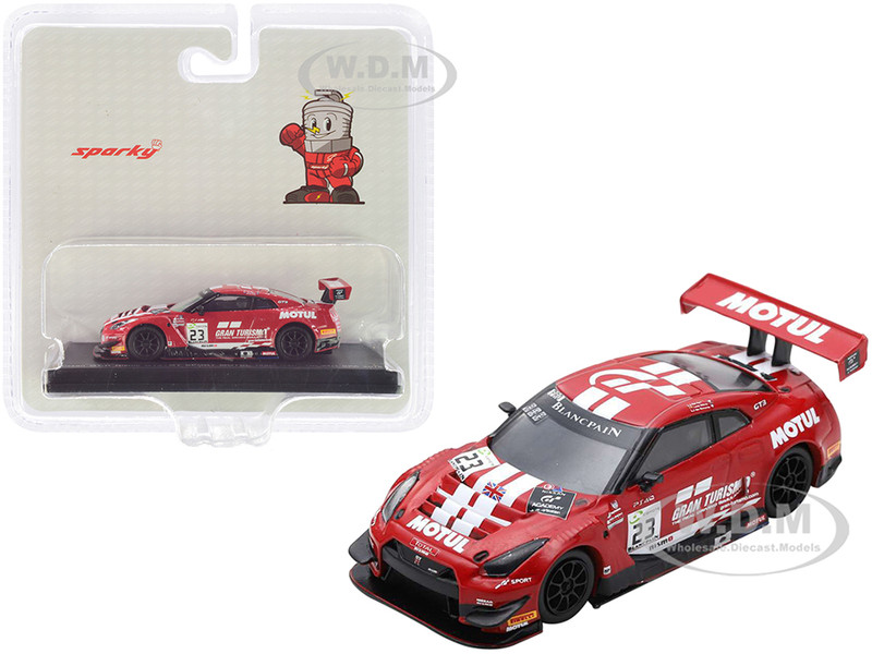 Nissan GT-R Nismo GT3 #23 Parry Buncombe Ordones GT Sport Motul Team RJN 7h 24H Spa 2018 1/64 Model Car Sparky Y128B