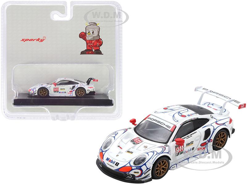 Porsche 911 RSR #911 Pilet Tandy Makowiecki Porsche GT Team Winner GTLM Class Petit Le Mans 2018 1/64 Model Car Sparky Y135B