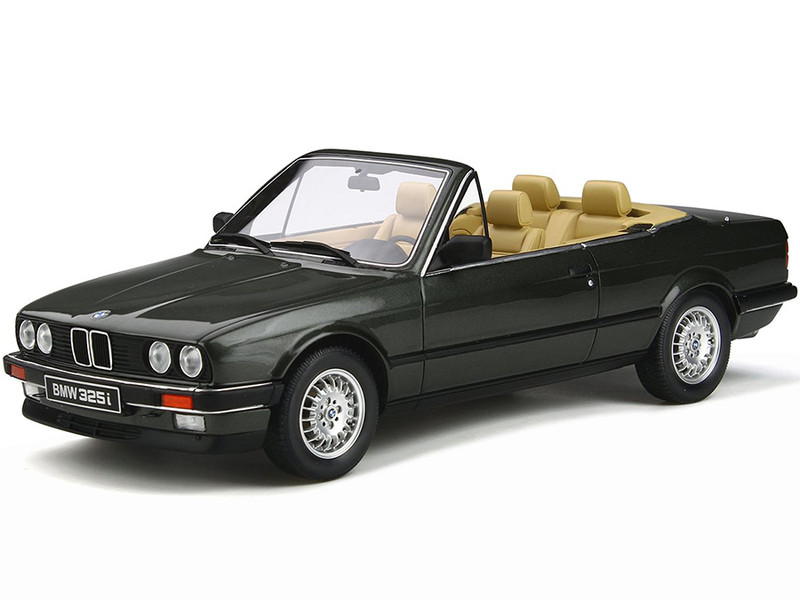 BMW E30 325i Convertible Achat Green Metallic Limited Edition 2000 pieces Worldwide 1/18 Model Car Otto Mobile OT572