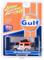 1980 Toyota Land Cruiser Gulf Oil Orange White Accessories Johnny Lightning 50th Anniversary Limited Edition 4800 pieces Worldwide 1/64 Diecast Model Car Johnny Lightning JLCP7238