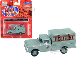 1960 Ford F-250 Utility Truck Southern Bell Telephone Gray 1/87 HO Scale Model Classic Metal Works 30583