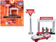 1955 Chevrolet Tow Truck White Red 1950's Service Station Sign Gas Pump Island Conoco 1/87 HO Scale Model Classic Metal Works 40009